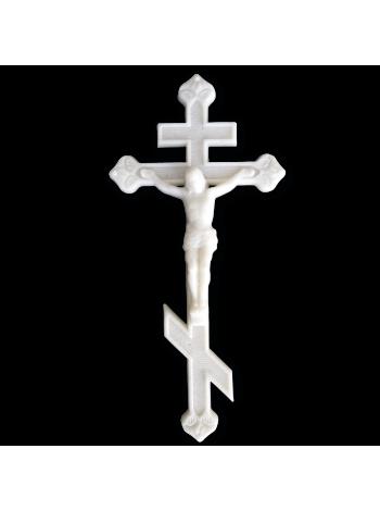 Крест с распятием 350*170 Православный М4 полимер (мрамор)